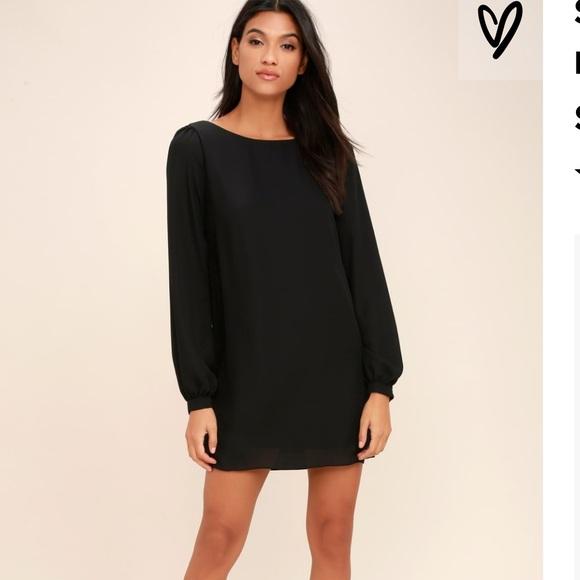 3389913b12f Lulu's Dresses | Lulus Black Long Sleeve Tunic Dress Sz M | Poshmark